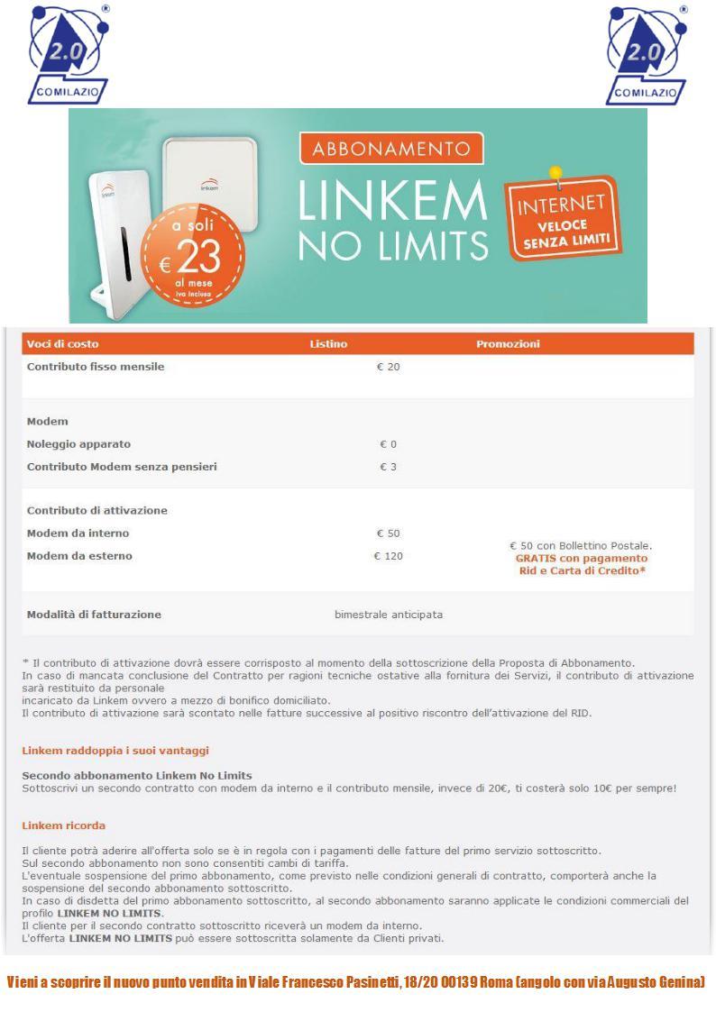 Linkem -NO LIMITS+Costi-