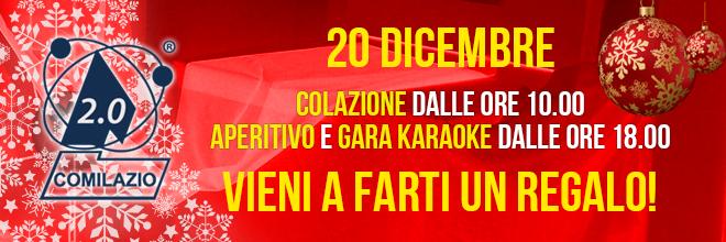 Natale con Comilazio 2 – Colazione, Aperitivo e Gara Karaoke